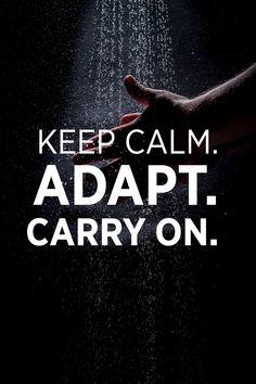 keep calm adapt carry on